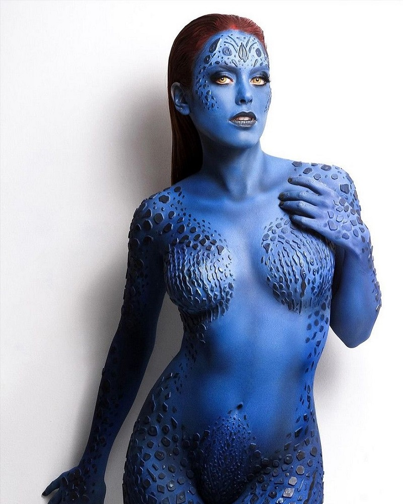 body art blue avatar