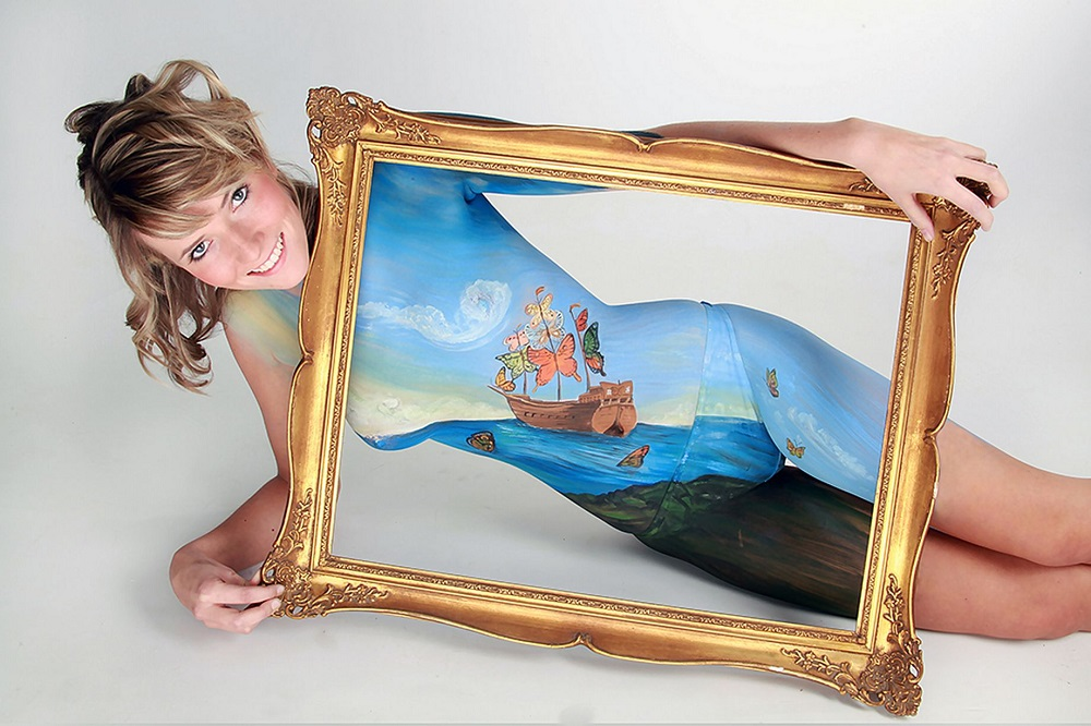 body art picture frame