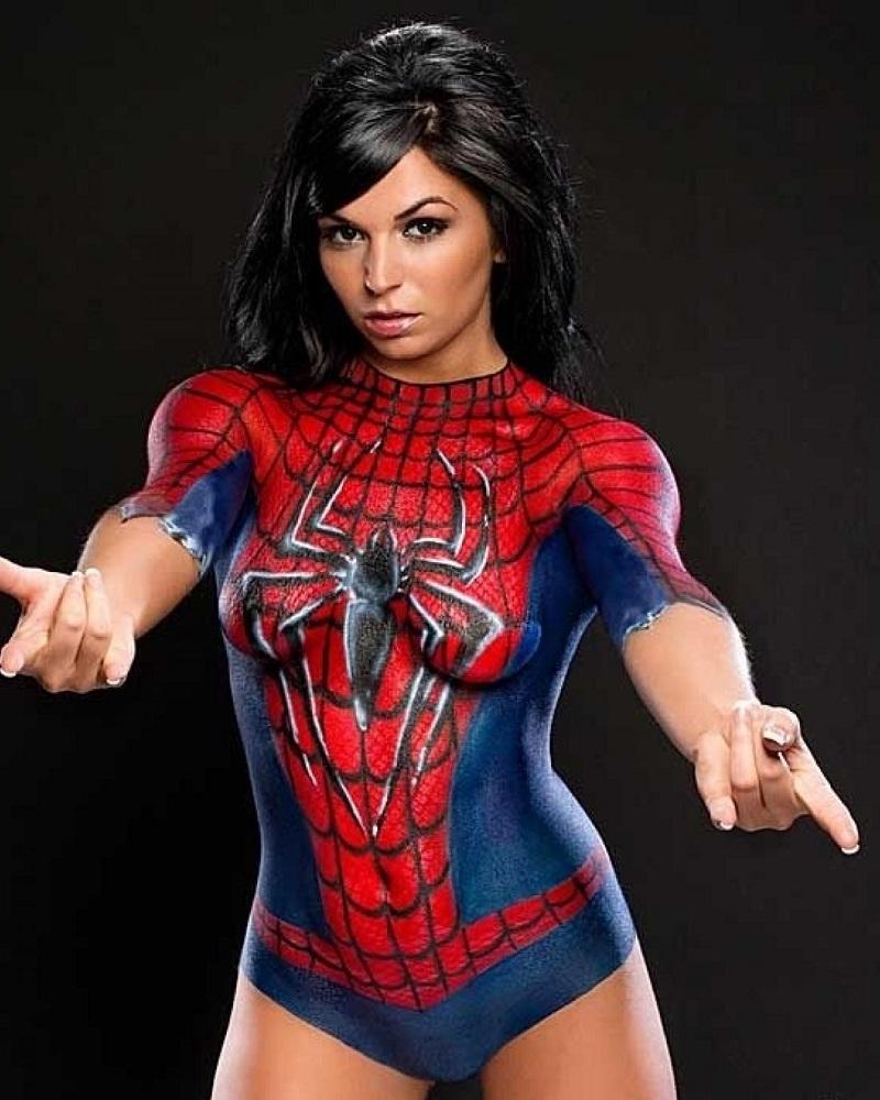 body art spider girl