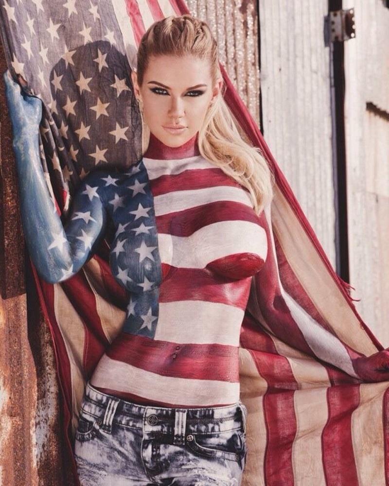 body art American flag