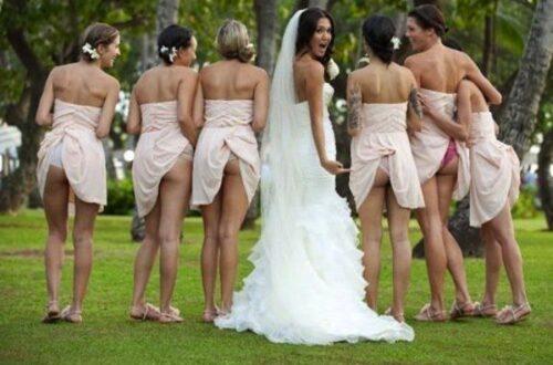butt shot wedding